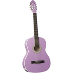 Eko CS-10 Violet, classical guitar with nylon strings, suitable for beginners, violet